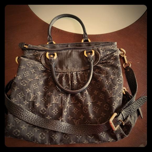 Louis Vuitton Neo Caddy denim handbag